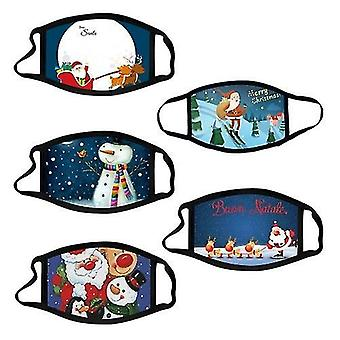 Kit 04 10 adet noel maskesi çocuklar için noel baskılı yüz maskeleri cai513