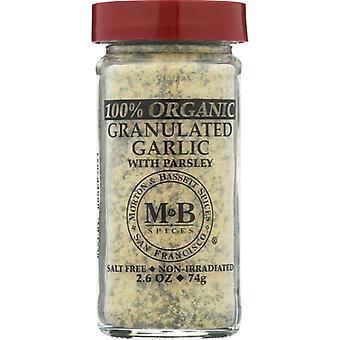 Morton & Bassett Spice Garlic Granultd Org, prípad 3 X 2,6 Oz