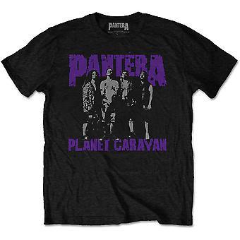 Pantera - Planet Caravan Mäns XX-Stor T-Shirt - Svart