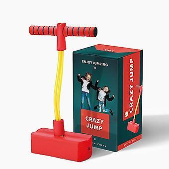 Pogo Stick per bambini, giocattolo gonfio per i più piccoli, divertimento interno ed esterno (rosso)
