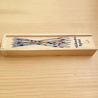 Bebê educacional de madeira tradicional Mikado Spiel pegar varas com jogo de caixa