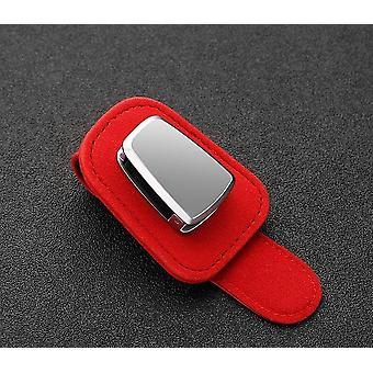 Portable Car Glasses Cases Ticket Card Clamp