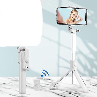 Matkapuhelimen selfie stick bluetooth kaukosäädin jalusta integroitu vaaka- ja pystysuuntaiset valokuvat