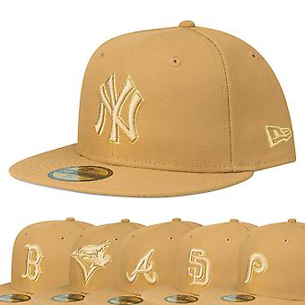 New Era 59Fifty Fitted Cap - MLB TEAMS panama tan / gold