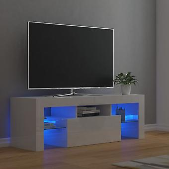 vidaXL armoire TV avec led led brillant 120x35x40 cm
