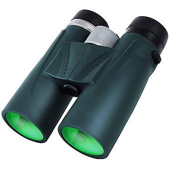 12 x 42 jumelles pour adultes, jumelles compactes professionnelles HD pour l'observation des oiseaux, la chasse, les sports de plein air, (vert)