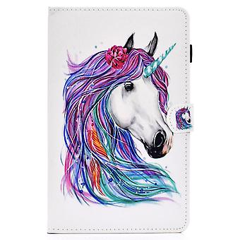 Case For Samsung Galaxy Tab S6 Lite Cover With Auto Sleep/wake Pattern Magnetic - Colored Horse