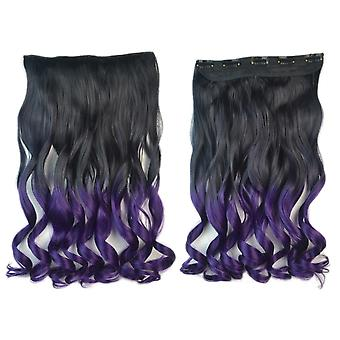 Gradient Ramp Wig Hair Extension 5 Cards Curled