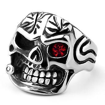 Titanium Pipe Skull Ring(11)