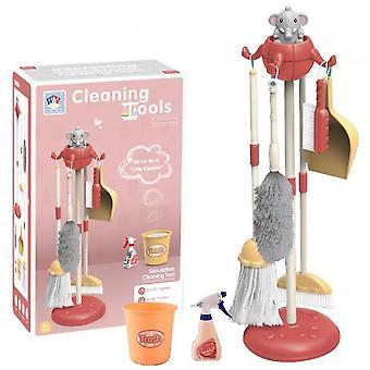 تنظيف كيت لعب الأطفال البيت تنظيف كيت (الوردي)