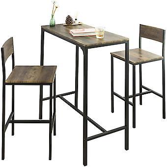 SoBuy OGT03-XL, Bar Set-1 Bar Table y 2 Taburetes,