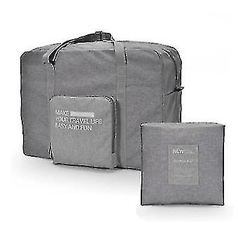 Foldable Travel Bag Can Be Put On The Luggage Trolley Large-capacity Waterproof Storage Bag(Gray)