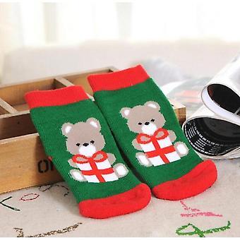 1 paar katoenen winter baby meisjes jongens kinderen sokken kinderen Terry sneeuwvlok elanden kerstman kerstbeer cadeau goedkope spullen kleding