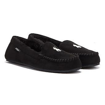 Ralph Lauren Dezi V Womens Black Slippers