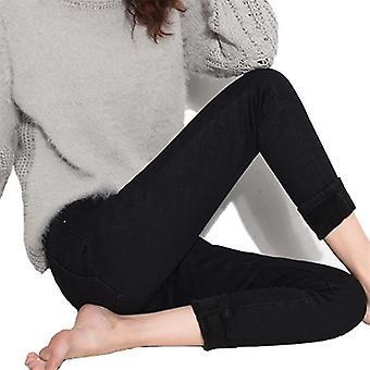 Varma jeans med hög midja