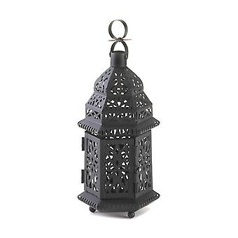 Gallery of Light Black Iron Moroccan Candle Lantern - 10.5 inches, Pack of 1