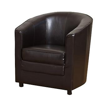 Yogo 1 Seater Tub Sofa Faux Leather In Choice Of Colours