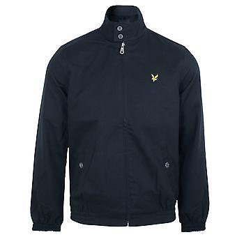 Lyle & scott men's dark navy harrington jacket