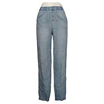 DG2 by Diane Gilman Women's Pants Elastic Waist Soft Blue 688317