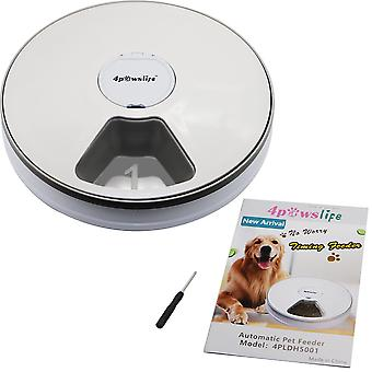 מאכיל תזמון עגול מאכיל חיות מחמד אוטומטי 6 ארוחות 6 רשתות חתול כלב מזון יבש חשמלי 24 שעות להאכיל ציוד לחיות מחמד