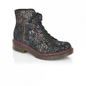 Rieker 76241 Ladies Ankle Boots Black