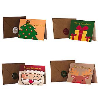Takkekort og konvolutter til jul 40-pakke