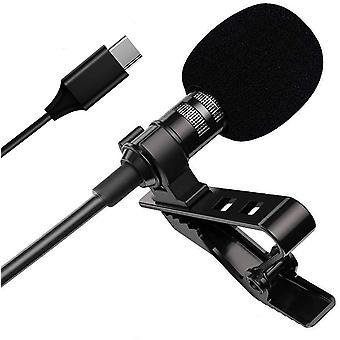 Lavalier Mini mikrofon pro telefon, profesionální verze usb c clip-on klopového mikrofonu,