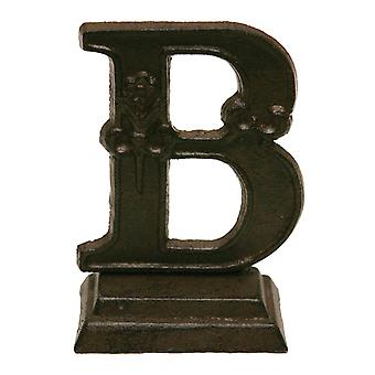 Iron Ornate Standing Monogram Letter B Tabletop 5 Inches Figurine