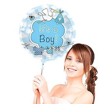 Foil balloon birth is a boy Junge blue helium balloon 43 cm balloon