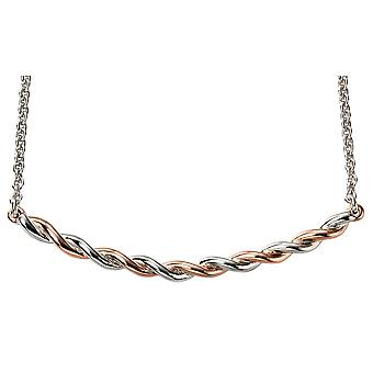 925 Silver Rose Gold Plated And Rhodium Trend Necklace