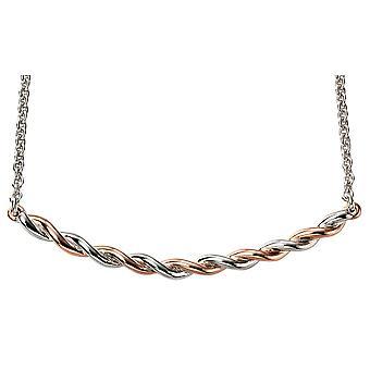 Placcato in oro rosa in argento 925 e rodio collana Trend