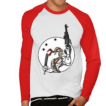 Battle Worm Earthworm Jim Men's Baseball Long Sleeved T-Shirt