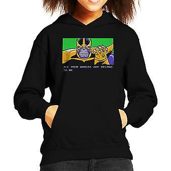 All uw werelden Are Belong To Me Thanos Zero Wing Kid's Hooded Sweatshirt