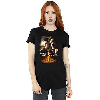 Supernatural Women's Flaming Poster Boyfriend Fit T-Shirt