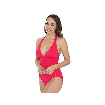 Seaspray SY007053 Women's Pink Solid Colour Costume One Piece Swimsuit
