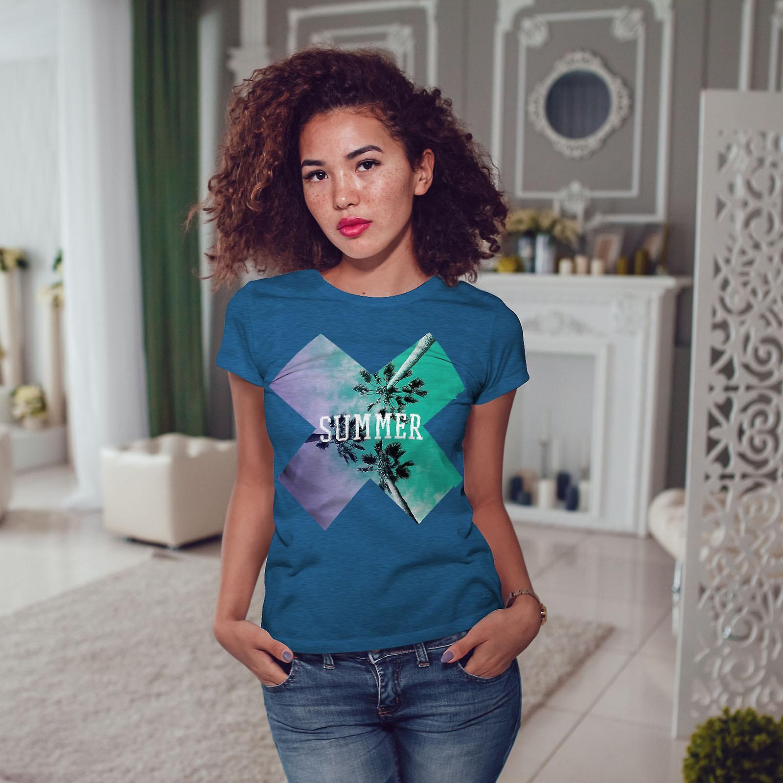 Location vacances vacances BlueT-shirt Royal femme | Wellcoda