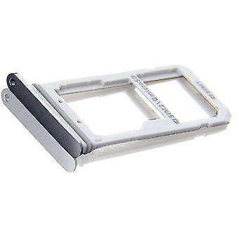 Voor Samsung Galaxy S7 Edge G935 SIM card houder Slot Micro SD kaart houder - Grijs