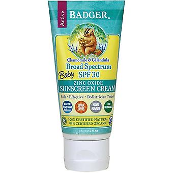 Badger, Baby Sunscreen Chamomile & Calendula SPF30 87ml