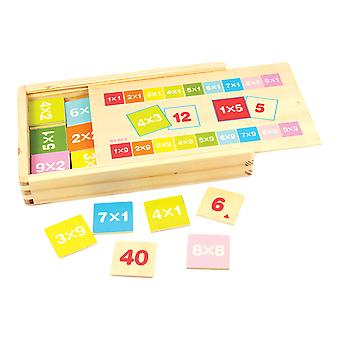 Bigjigs Toys Wooden Educational Times Table Box Learn Multiplication Math
