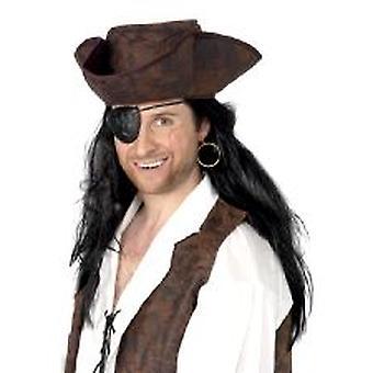 Пиратская повязка на глаз & серьги - суконная