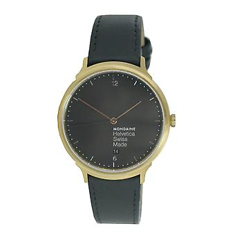 Mondaine Unisex Watch Helvetica No1 light wristwatch MH1. L2221.lb leather