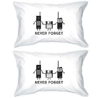 Never Forget White Gift Pillowcases Funny Grandparents Gift Ideas