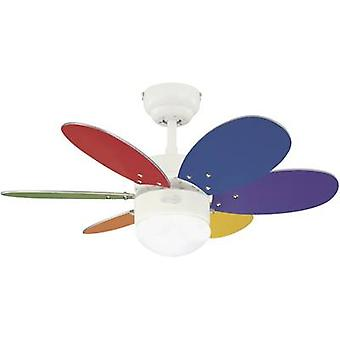 Westinghouse Turbo II Ceiling fan (Ø) 76 cm Wing colour: Multi-coloured, White, Maple Case colour: White