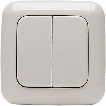 STANDARD 2/4 Kopp Free Control 4-channel Wireless wall-mounted switch Cream-white