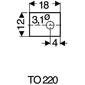 Fischer Elektronik GS 220 P Mica-arkki (L x k) 18 mm x 12 mm sopii 220 1-PC: lle (s)