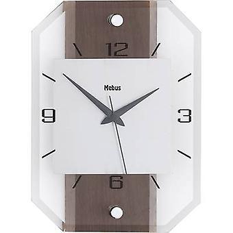 ساعة حائط الجوز الكوارتز الزجاج الكلاسيكية