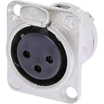 Neutrik NC3F-DL-1 XLR connector Sleeve socket, straight pins Number of pins: 3 Silver 1 pc(s)