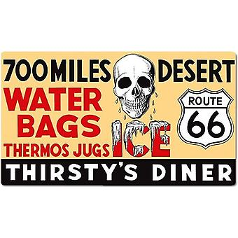 Route 66 Diner Thirstys Tin Sign