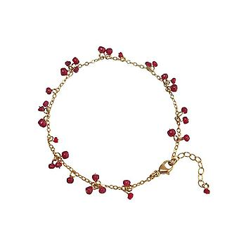 Ruby bracelet Ruby bracelet gold plated bracelets in red