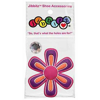 5 Pack -Jibbitz - Nite Ize Crocs O-Dial Shoe Flower/White Rhinestone Charm